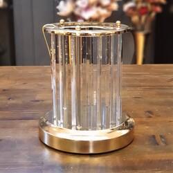 Deco Vien - Kristal Cam Çubuklu Gold Mumluk