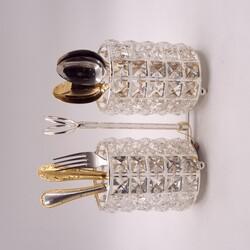 Kristal Taşlı Kaşıklık Gümüş - Thumbnail