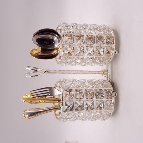 Kristal Taşlı Kaşıklık Gümüş