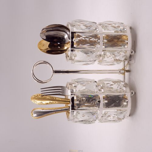 Kristal Taşlı Kaşıklık Silver