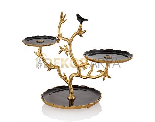 Love Bird Serisi Siyah 2'li Stand