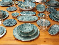 Gallery Crystal - Marianna Turkuaz 44 Parça Yemek & Kahvaltı Takımı
