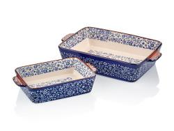 Cemile - Mavi İkili Dikdörtgen Kek Kalıbı