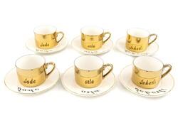 Mikasa Moor - Merry Gold 6lı Kahve Fincanı Takımı