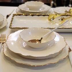 GLAZZE - 6 Kişilik 25 Parça Yemek Takımı Gold