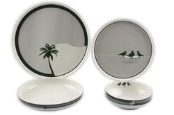 Mikasa Moor - Palm Modern 24 Parça Yemek Takımı