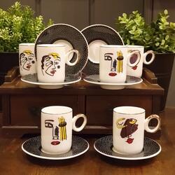 Dekor Arya - Pop Art 6 kişilik kahve fincan takımı