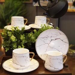Deco Vien - Porselen Çay Fincanı Beyaz