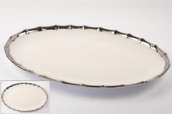 Mikasa Moor - Gümüş Oval Servis Tabağı