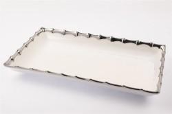Mikasa Moor - Gümüş Dikdörtgen Servis Tabağı