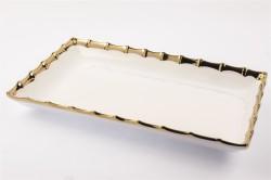 Mikasa Moor - Gold Dikdörtgen Servis Tabağı