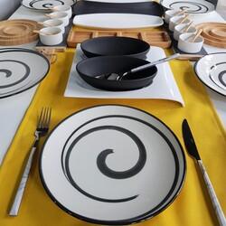 Dekor Arya - Siyah Beyaz 77 Parça Kahvaltı Takımı