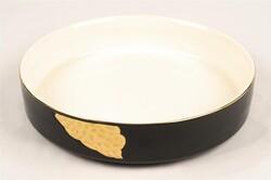 Mikasa Moor - Siyah Gold Yuvarlak Porselen Servis