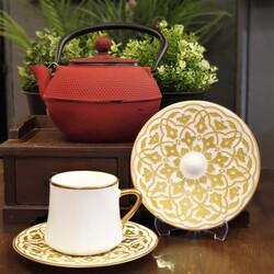 Koleksiyon - Lale Altın Sufi Altılı Çay Fincan Takımı