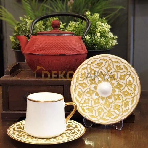 Lale Altın Sufi Altılı Çay Fincan Takımı