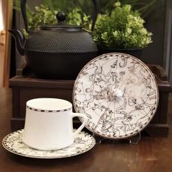 Koleksiyon - Sufi Çay Fincan Takımı 6'lı Irismano Platin