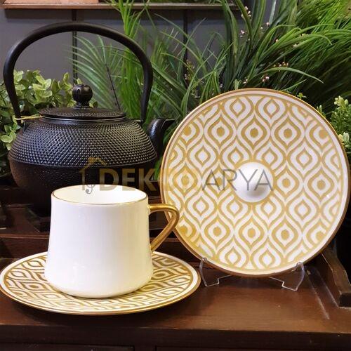 Sufi İkat Altın Çay Fincan Takımı