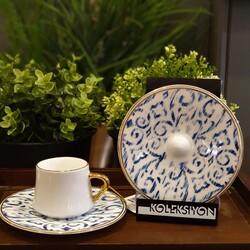 Koleksiyon - Sufi Türk Kahvesi 6'lı Nomat Kobalt