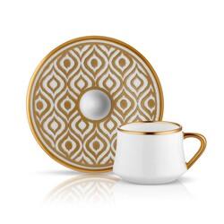 Koleksiyon - Sufı İkat Altın Türk Kahve Fincan Takımı