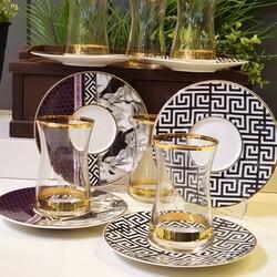 Lucky Art - Tania Bone Serisi 6'lı Çay Seti