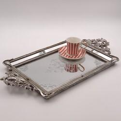 Esmer Hediyelik - Tepsi Silver 48.8*26*4.8 Cm