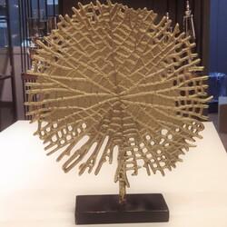 Upton Gold Yuvarlak Dekoratıf Obje - Thumbnail