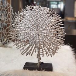 Lamedore - Upton Gümüş Yuvarlak Dekoratif Obje