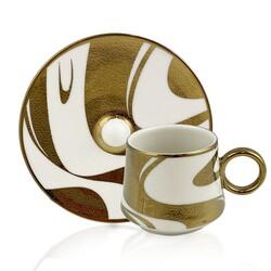 Dekor Arya - Wave Gold 6'lı Kahve Fincan Takımı