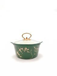 Dekor Arya - Yeşil-Gold Küçük Yuvarlak Sos Tencere