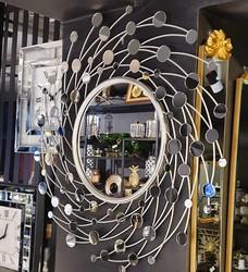 Esmer Hediyelik - Yuvarlak Gümüş Ayna
