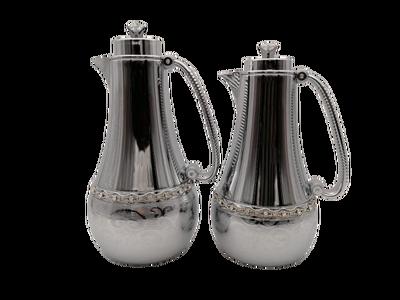 Zavaroski Taşlı İkili Gümüş Termos